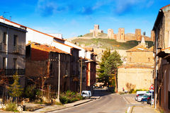 View of  Molina de Aragon with castle. Spain Royalty Free Stock Photos