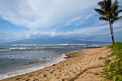 View of Molokai from Maui Stock Photography
