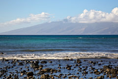 View of Molokai from Maui Stock Images