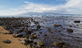 View of Molokai from Maui Royalty Free Stock Images