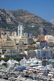 View of Monaco bay. Cityscape view of Monaco principality, Europe Royalty Free Stock Photography