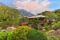 View of Monaco garden, Cote d'Azur Royalty Free Stock Photos