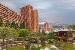 View of Monaco garden, Cote d'Azur Stock Image