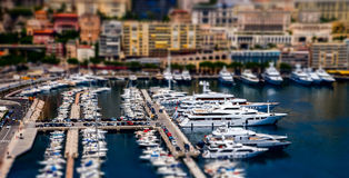 View of Monaco harbour with big ships. Royalty Free Stock Photography