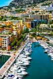 View of Monaco. Harbour, Monte Carlo royalty free stock photos