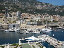 View of Monaco, Harbour and parts of Monte-Carlo. From the Prince's Palace stock images