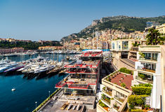 View of Monaco Hercule port Royalty Free Stock Photography