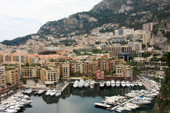 View Monaco neighborhoods. The beautiful Mediterranean Coast. Cote d'Azur.  Royalty Free Stock Photography