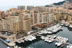 View Monaco neighborhoods. The beautiful Mediterranean Coast. Cote d'Azur.  Stock Photos