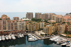 View Monaco neighborhoods. The beautiful Mediterranean Coast. Cote d'Azur.  Stock Images
