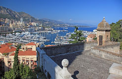 View of Monaco from old tower. Cityscape view of Monaco principality from old tower high point Stock Photography
