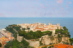 The view of Monaco-Ville Stock Images