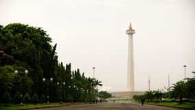 The view of Monas. A historical landmark placed in Central Jakarta, Indonesia stock photography