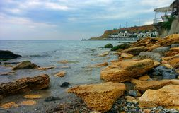 View on Cape. View on Monastery Cape and Black Sea Royalty Free Stock Photos