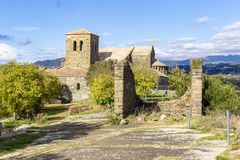 View of the Monastery of Casserras in Tavernolas royalty free stock image