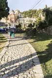 View of the monastery complex from the path of sinners. Royalty Free Stock Photo