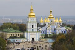 View on monastery in Kiev Royalty Free Stock Photography