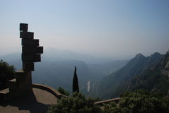 View from Monastery Montserrat Stock Photos
