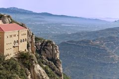View from monastery at Montserrat Stock Photo
