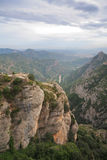 View from Monastery Montserrat, Spain Royalty Free Stock Photos