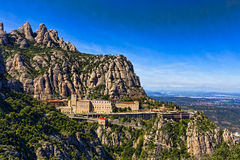 View of the monastery Montserrat Royalty Free Stock Image