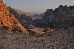 View from Monastery, Petra. Around the archeoligical site Petra is so much fantastic and breath-taking view, just go hiking there Stock Photography