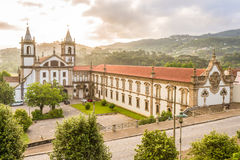 View at the Monastery Sao Bento in Santo Tirso ,Portugal royalty free stock photo