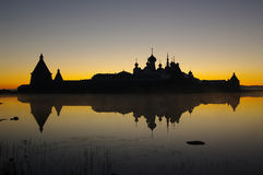 View of monastery on Solovetsky Islands. Royalty Free Stock Photos