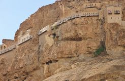 The view of The Monastery of the Temptation. Royalty Free Stock Image
