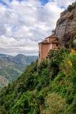 View of the Monastery to Santa Cova. Montserrat. Spain. Royalty Free Stock Photography