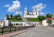 View of monastery in Vitebsk city Royalty Free Stock Photography