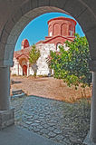 View of Monastry. Monastry at Apollonia, Albania. View from museum Royalty Free Stock Photography