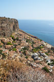 View of Monemvasia from hillside Royalty Free Stock Photo