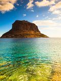 View of Monemvasia island in Greece Royalty Free Stock Photos