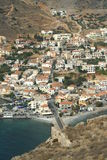 View from Monemvasia rock on Gefira town Royalty Free Stock Image