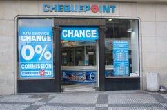 A bureau de change Stock Image