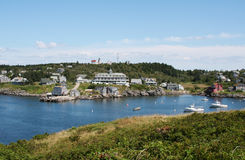 View of Monhegan Island. From Manana Island, Maine Royalty Free Stock Image