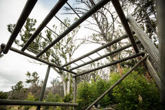 View of monkey bar frame. In boot camp Royalty Free Stock Photography