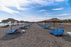 Monolithos beach - Aegean sea - Santorini island - Greece. View of Monolithos beach - Aegean sea - Santorini island - Greece stock images