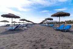Monolithos beach - Aegean sea - Santorini island - Greece. View of Monolithos beach - Aegean sea - Santorini island - Greece royalty free stock photography