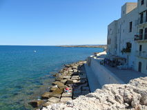View of Monopoli seafront. In southern Italy Royalty Free Stock Photos