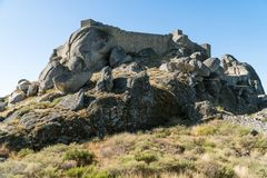 View on a Monsanto castle in the outskirts of the medieval villa. Ge of Monsanto, Portugal Royalty Free Stock Photos