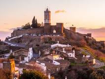 Monsaraz in Alentejo region, Portugal. View of Monsaraz in Alentejo region, Portugal, at sunset Stock Photos
