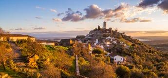 Monsaraz in Alentejo region, Portugal. View of Monsaraz in Alentejo region, Portugal, at sunset Stock Photography