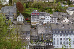 View of Monschau from hill, Germany Royalty Free Stock Photo