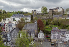View of Monschau from hill, Germany Stock Image