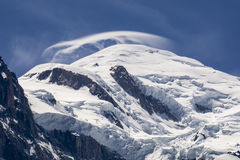 View of the Mont Blanc on a beautiful sunny day. Alps. Stock Images