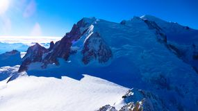 View of Mont Blanc, France Stock Photos
