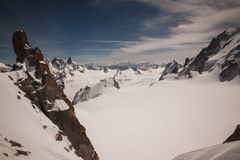 View from Mont Blanc , France Stock Photo