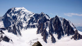 View of Mont Blanc in the French Alps Royalty Free Stock Image